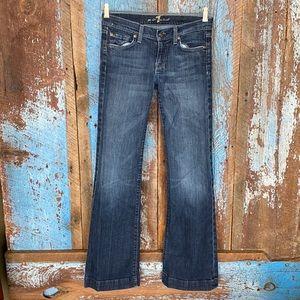 7 For All Mankind Wide Leg Flare Dojo Jeans